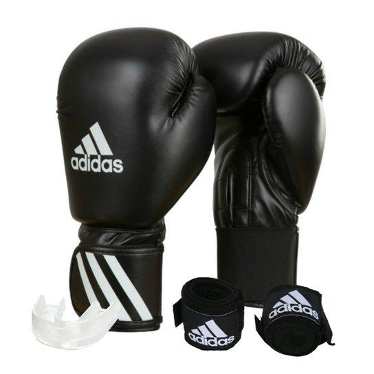 1485980da Kit Luva de Boxe Muay Thay Adidas Speed 50 + Bandagem 2