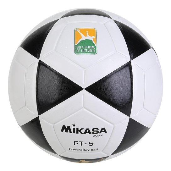 Bola Futebol Mikasa FT-5 Futvôlei - Preto e Branco - Compre Agora ... e929eafd91ff8