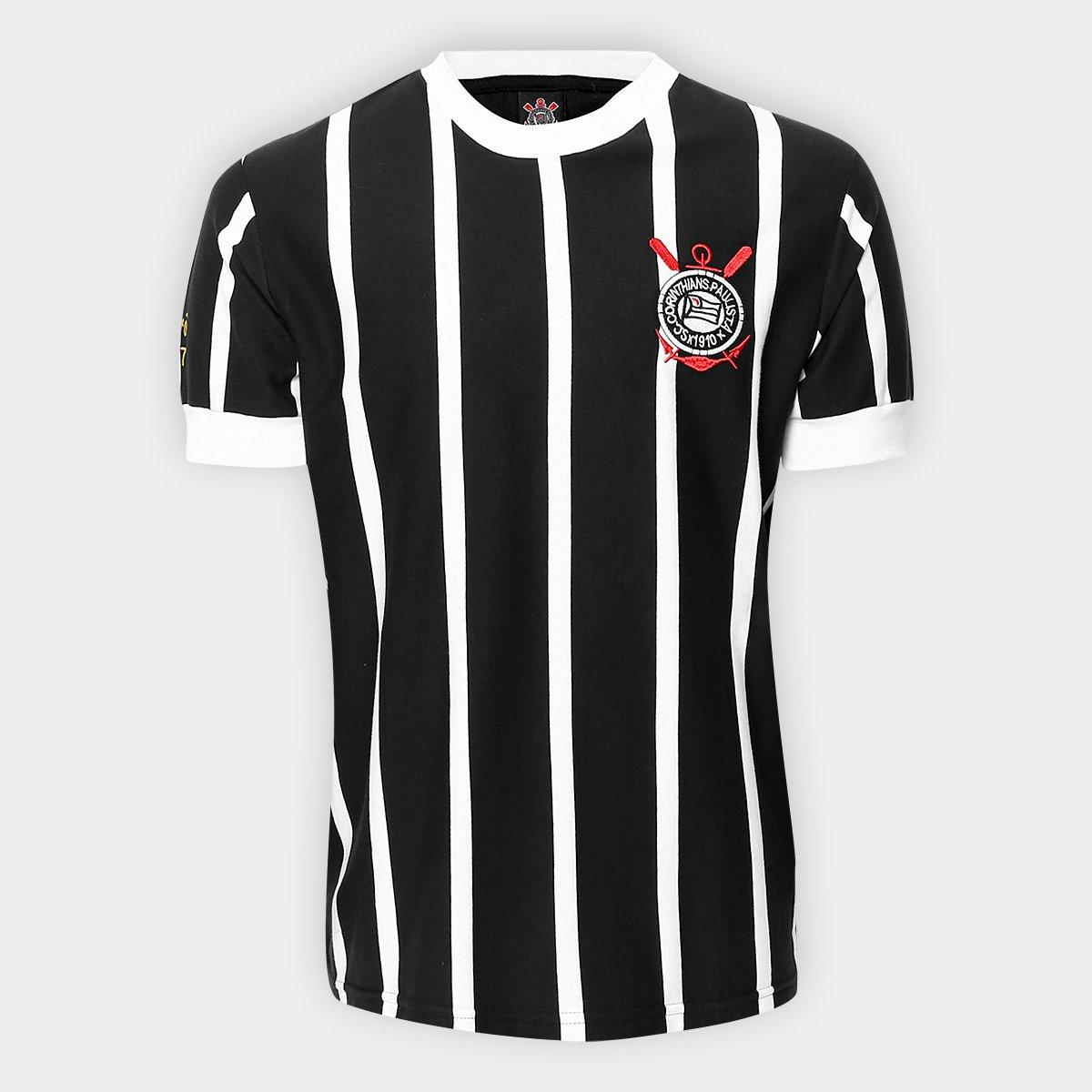 63a38e2b00 Camisa Retrô Corinthians Réplica 1977 Masculina