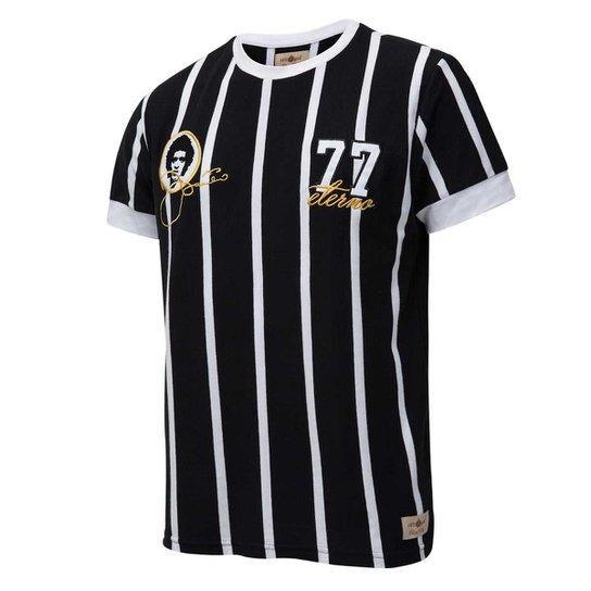 e30d98c03c6 Camisa Corinthians Retrô Gol Basílio Torcedor Masculina - Preto+Branco