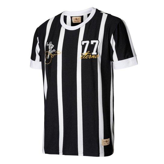 Camisa Retrô Gol Réplica Basílio Ex - Corinthians Gol 1977 Masculina -  Preto+Branco 2ffb21bc575df
