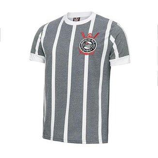 Camisa Retrô Corinthians Réplica 1977 Estonada Masculina fb52270a930