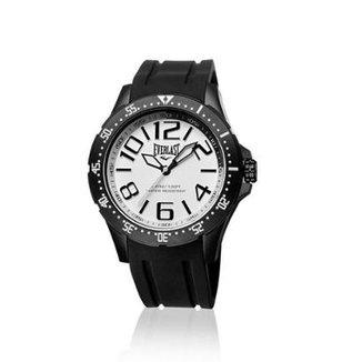 6289ef81288 Relógio Everlast Masc Cx Aço Pulseira Silicone Analógico