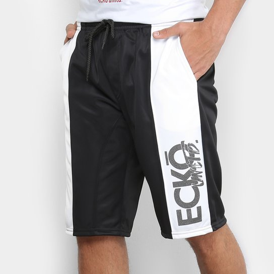 1cd0c895199 Bermuda Ecko Ber Active Masculina - Preto e Branco - Compre Agora ...