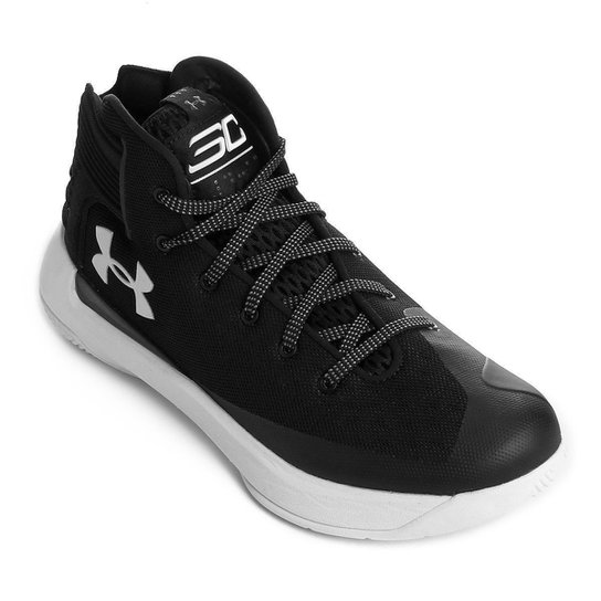 2b88f2f326f Tênis Under Armour Stephen Curry 3Zero Masculino - Preto e Branco ...