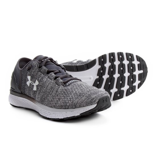 49d31a356 Tênis Under Armour Charged Bandit 3 Masculino - Cinza e Branco ...