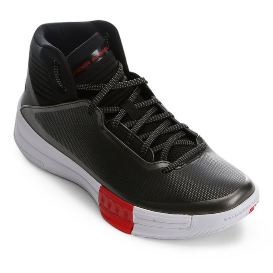 6e7be1ad7e8 Tênis de Basquete Under Armour Lockdown 2 Masculino - Preto e Branco ...