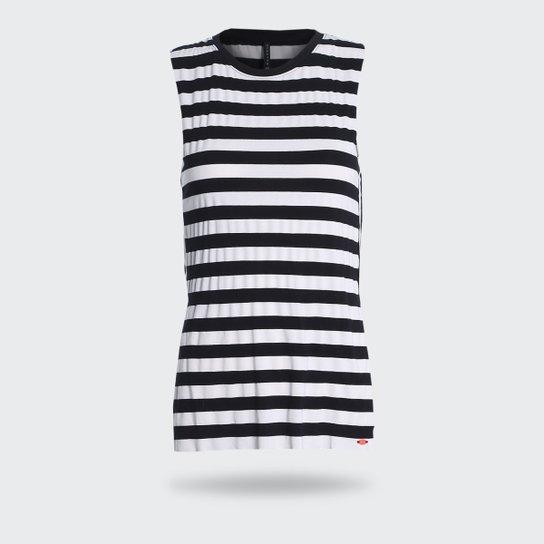 54ae6fbecb Camiseta Regata Walk Run Listrada - Preto+Branco