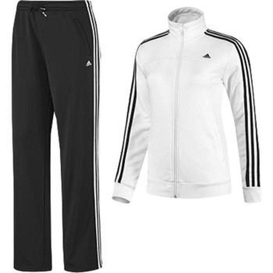 Agasalho Adidas Feminino 3S Knit Suit - Compre Agora  d1ef26ec56955