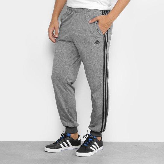 cbdb25968fc8f Calça Adidas Ess 3S Masculina - Cinza e Preto - Compre Agora