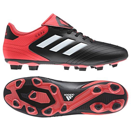 8646d95f15c4a Chuteira Campo Adidas Copa 18 4 FXG - Preto e Vermelho | Netshoes