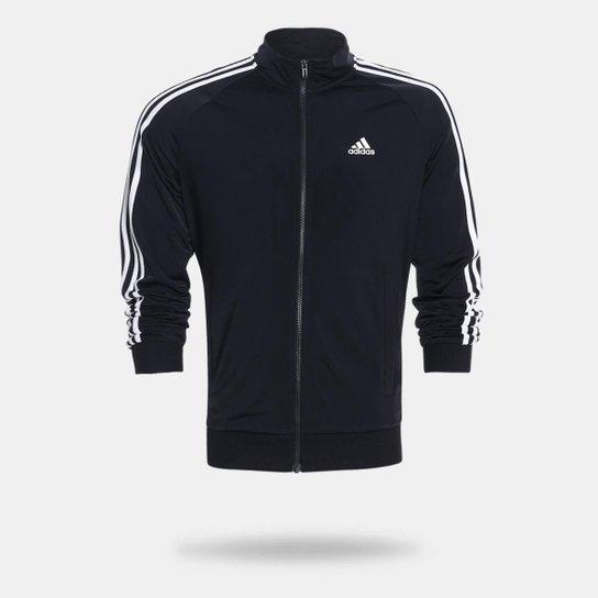 108b62542554d Jaqueta Adidas Ess 3S Ttop Tri Masculina - Preto e Branco - Compre ...