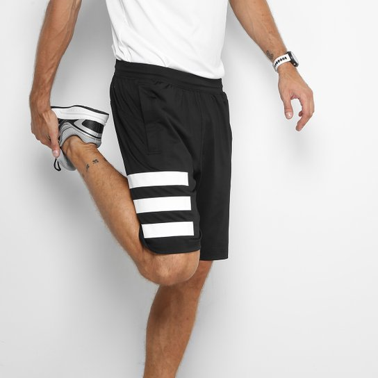 ee1f30477 Bermuda Adidas Speedbreaker Hype Masculina - Preto e Branco | Netshoes