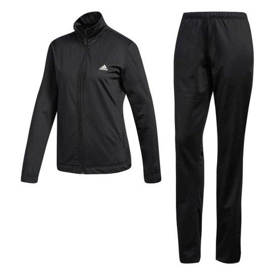 20b1662a42c Agasalho Adidas Ess Ep Feminino - Preto e Branco - Compre Agora ...