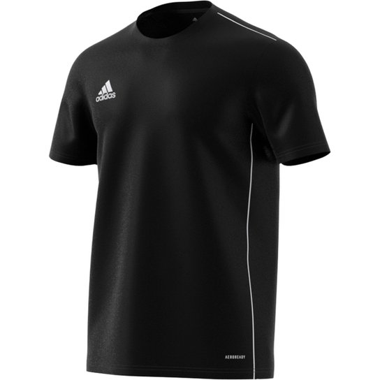 acf2ed5013 Camiseta Adidas Core 18 Masculina - Preto e Branco - Compre Agora ...