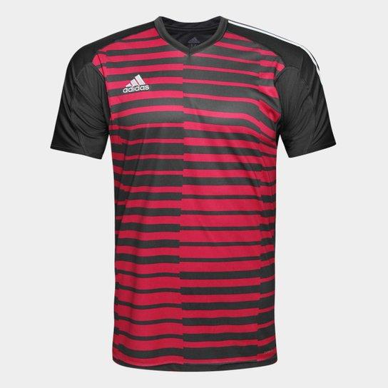 Camisa Adidas Goleiro Adipro 18 Masculina - Preto e Vermelho ... 25b3fcc319618