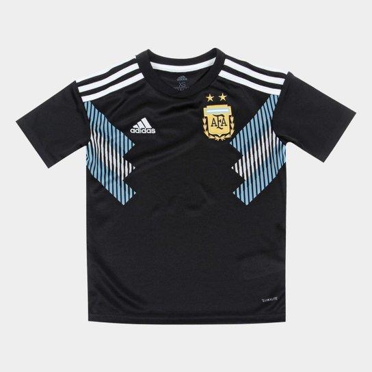 8d0a63b541 Camisa Seleção Argentina Infantil Away 18 19 s n° - Torcedor Adidas ...