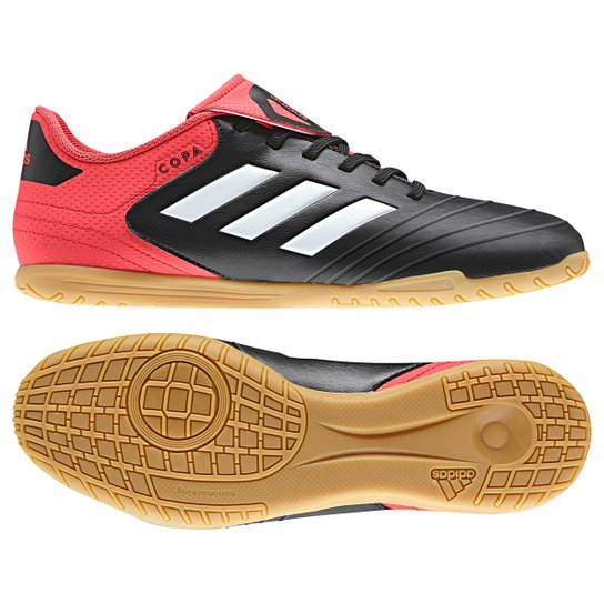 9eb9d400426de Chuteira Futsal Adidas Copa 18.4 IN - Preto e Vermelho | Netshoes