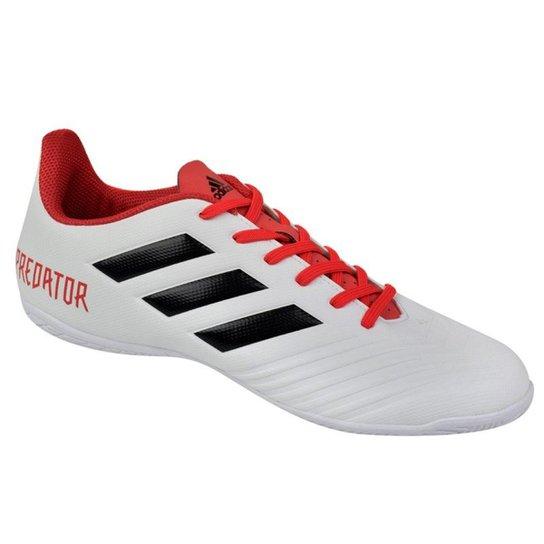 4c69071b6c Chuteira Futsal Adidas Predator 18.4 IN - Preto+Branco