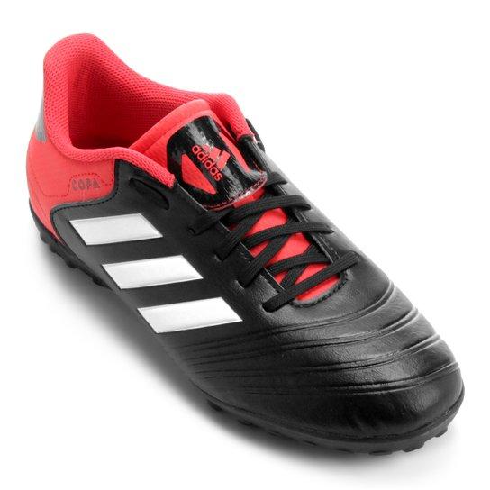 352b40a5c027b Chuteira Society Adidas Copa 18 4 TF - Preto e Vermelho | Netshoes