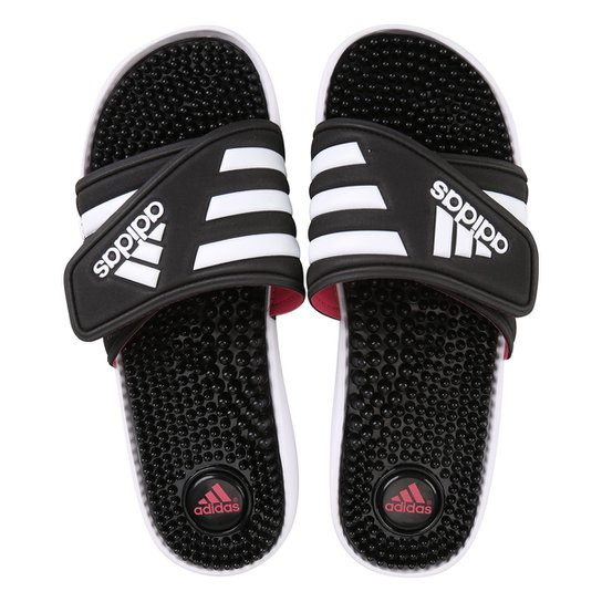 Chinelo Slide Adidas Adissage Feminino - Preto e Branco - Compre ... 2177f7a3d6794