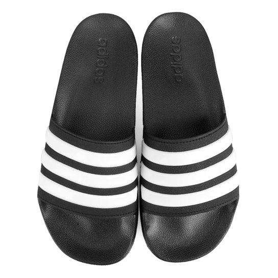 e44189cb21a Chinelo Slide Adidas Adilette Cloudfoam Masculino - Preto e Branco ...
