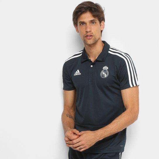 d7bc073cbc Camisa Polo Real Madrid Adidas Masculina - Azul Escuro - Compre ...
