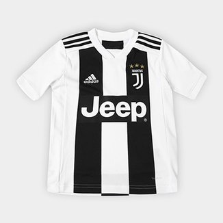 318eb53efa133 Camisa Juventus Infantil Home 2018 s n° - Torcedor Adidas