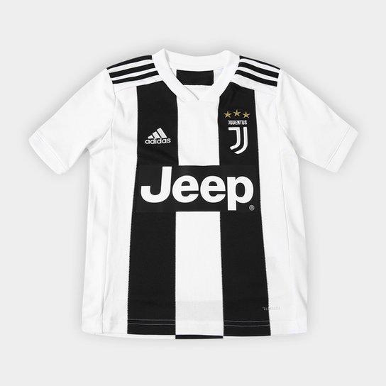 Camisa Juventus Infantil Home 2018 s n° - Torcedor Adidas - Preto+Branco cd6bd21b420