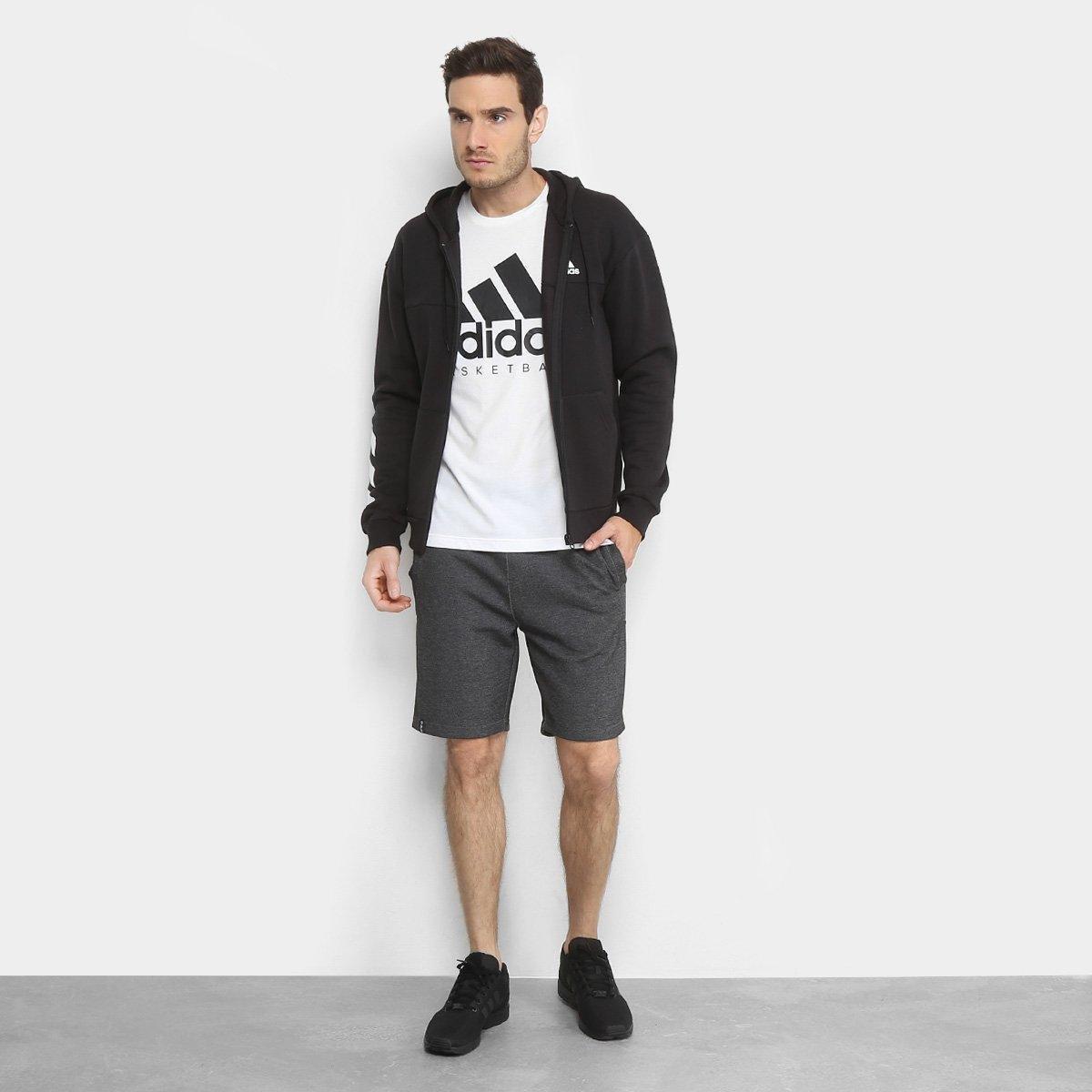 03d524ec1de Jaqueta de Moletom Adidas Sport Full Zip Masculina