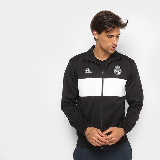 5e7e922b10 Jaqueta Real Madrid Adidas Masculina - Preto e Branco - Compre Agora ...