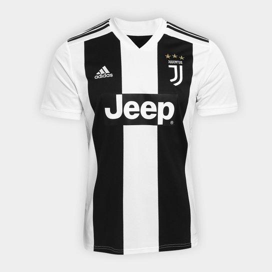 Camisa Juventus Home 2018 s n° - Torcedor Adidas Masculina - Preto+Branco b8f2e0f3b2fa8