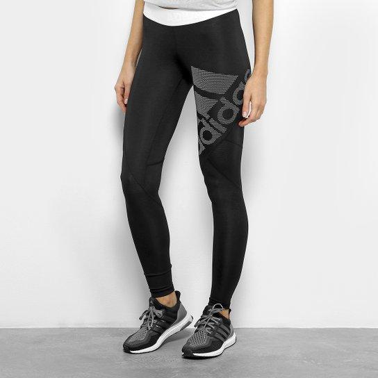 1d0e9187b Calça Legging Adidas Alphaskin Sport Feminina - Preto+Branco