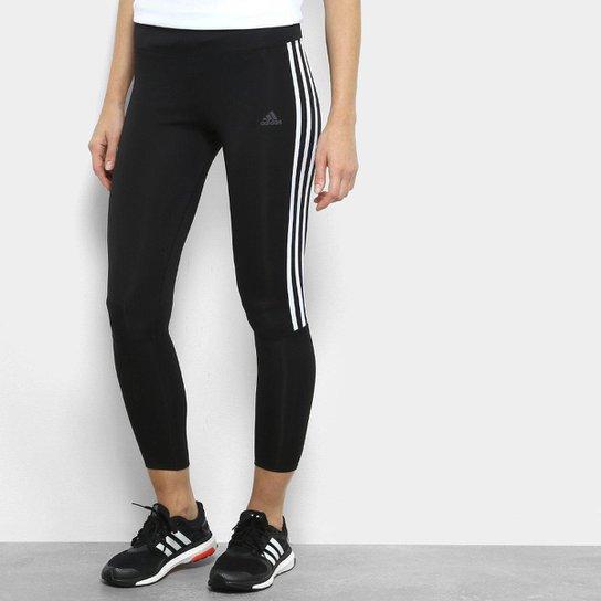 0d0fbfefe1 Calça Legging Adidas Running 3S Feminina - Preto e Branco - Compre ...