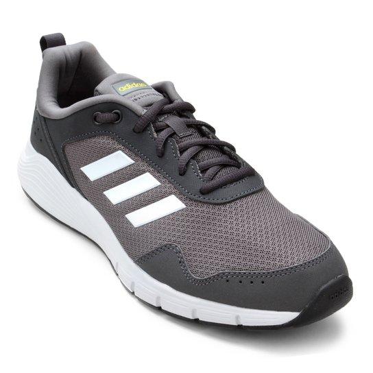7111c7a7bbf Tênis Adidas Fluidcloud Neutral Masculino - Cinza e Branco - Compre ...