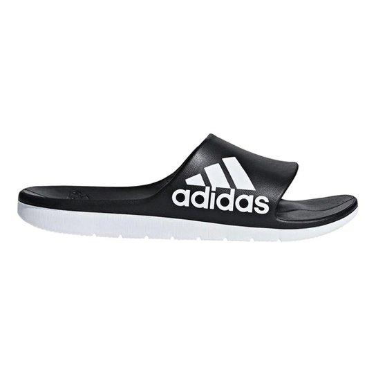 583118e9f4a1f0 Chinelo Slide Adidas Aqualette Cloudfoam Masculino - Preto e Branco ...