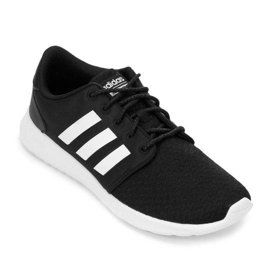 03a0c00f06c Tênis Adidas Qt Racer Feminino - Preto e Branco - Compre Agora ...