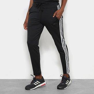 5dd4bb6ddf4fa Calça Legging Adidas D2M Climalite 3 Stripes Feminina