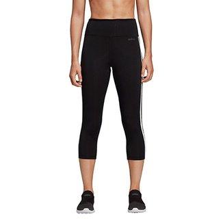 fef55cd478 Calça Legging Adidas 3 4 Design 2 Move 3 Stripes Feminina