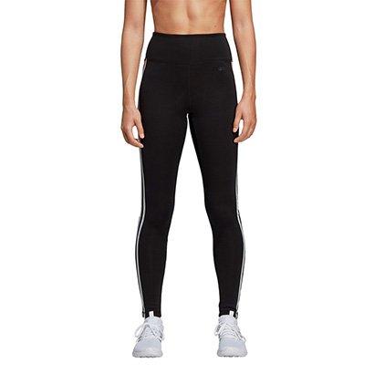Calça Legging Adidas D2M 3Stripes Cintura Alta Feminina