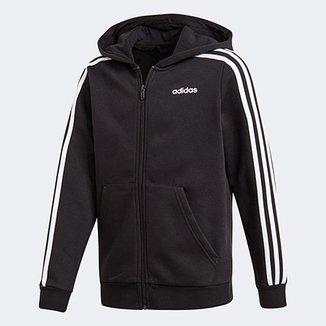 2f6837e52 Jaqueta Moletom Infantil Adidas Essentials 3 Stripes Masculina