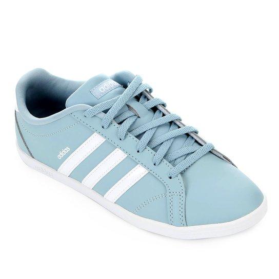 b05cc4eea37 Tênis Adidas Coneo QT Feminino - Cinza e Branco - Compre Agora ...