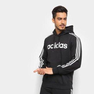 e32e9b6a6cd Moletom Adidas Estampa Logo E 3S PO FL Masculino
