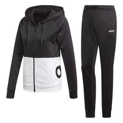 Conjunto Agasalho Adidas Detalhe Logo WTS Lin FT Hood Feminino