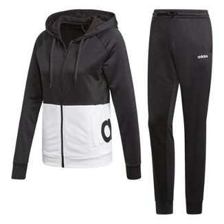 4a70d10fd7071 Conjunto Agasalho Adidas Detalhe Logo WTS Lin FT Hood Feminino