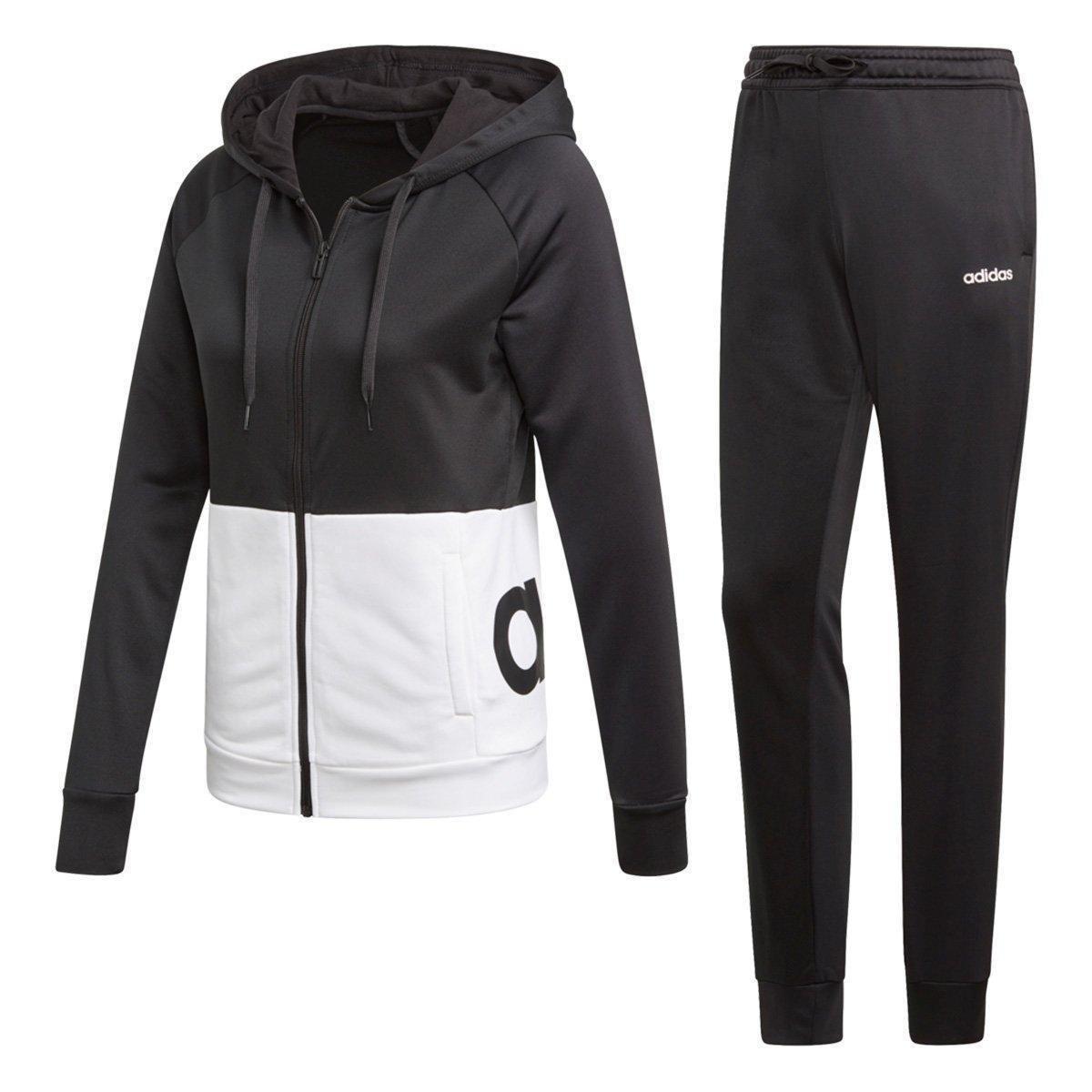 Agasalho Adidas Detalhe Logo WTS Lin Hood Feminino