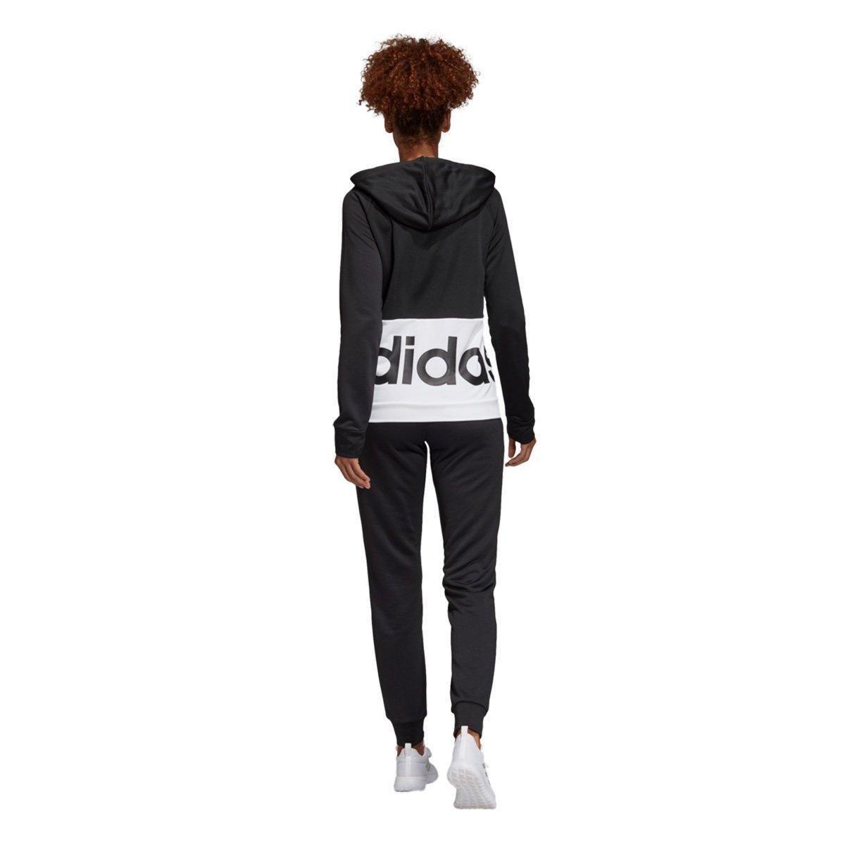 4e246565f1 ... Foto 3 - Conjunto Agasalho Adidas Detalhe Logo WTS Lin FT Hood Feminino  ...