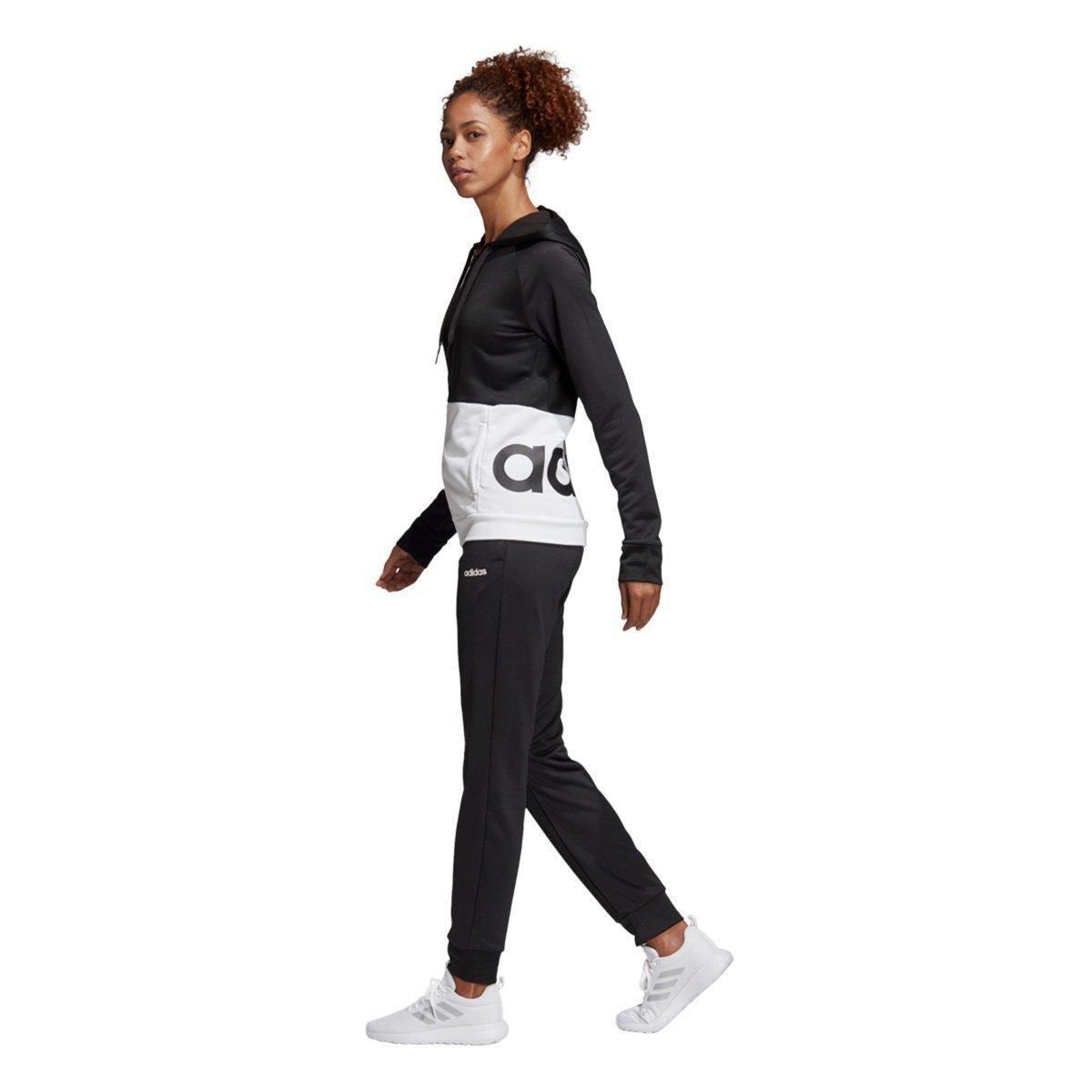 8cf7ea9930 ... Foto 4 - Conjunto Agasalho Adidas Detalhe Logo WTS Lin FT Hood Feminino
