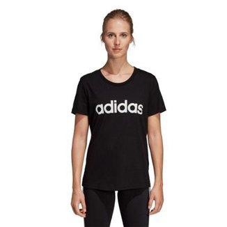 9d8ba218a6b Camiseta Adidas Estampa Logo Slim Feminina