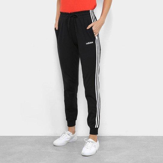 69efb7b3b Calça Adidas 3S Pant Feminina - Preto e Branco | Netshoes